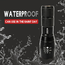 Zoomable LED Flashlight 5 lighting modes Led Torch for Night Riding Camping Hiking Hunting & Indoor Activities Use 18650