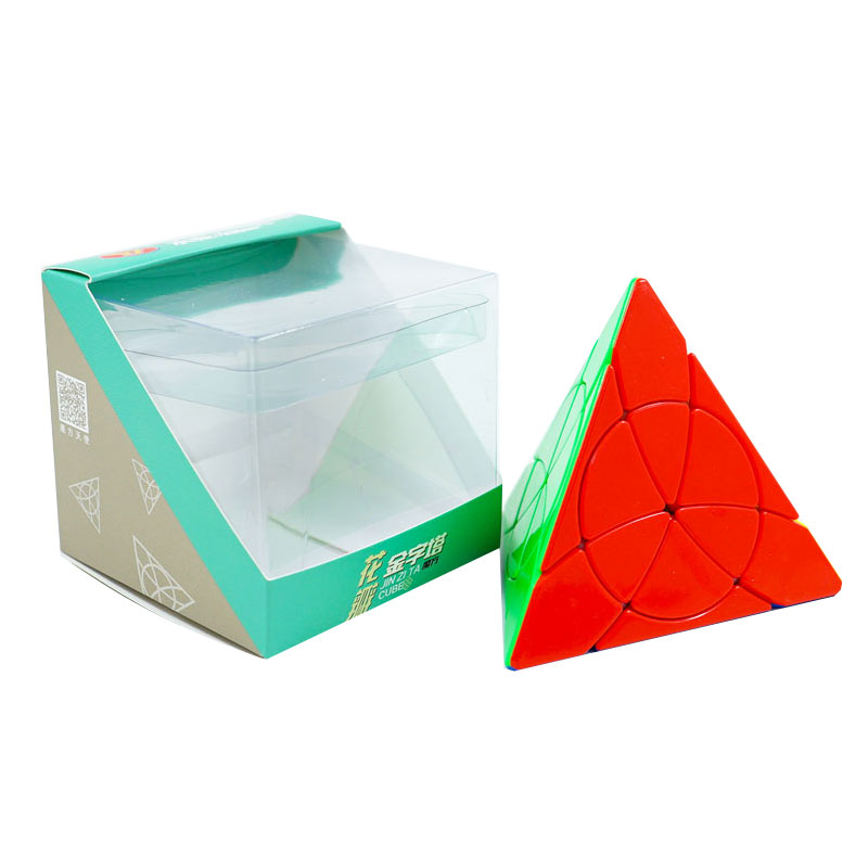 YJ Petal Pyramid Leaf Magic Pyramids Cube Stickerless Yongjun Triangle Puzzle Speed Cubes For Children Kids Gift