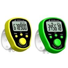 2 шт пятиканальный пение счетчик палец электронный счетчик пение Многофункциональный точка счетчик зеленый и желтый