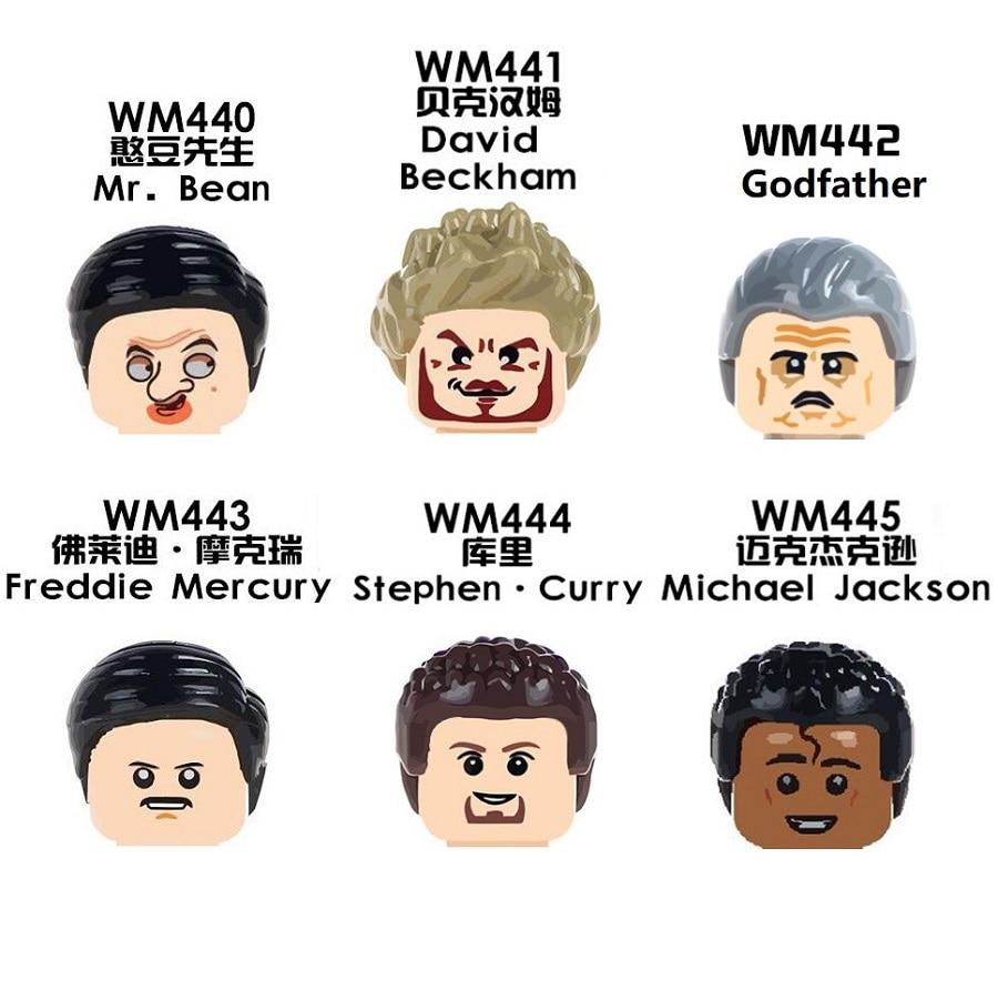Майкл, Крестный отец, Дэвид Роу, Бекхэм, мистер Бэйл, Джексон, Стефен, карри, Фредди, Меркурий, мини-фигурки, игрушка