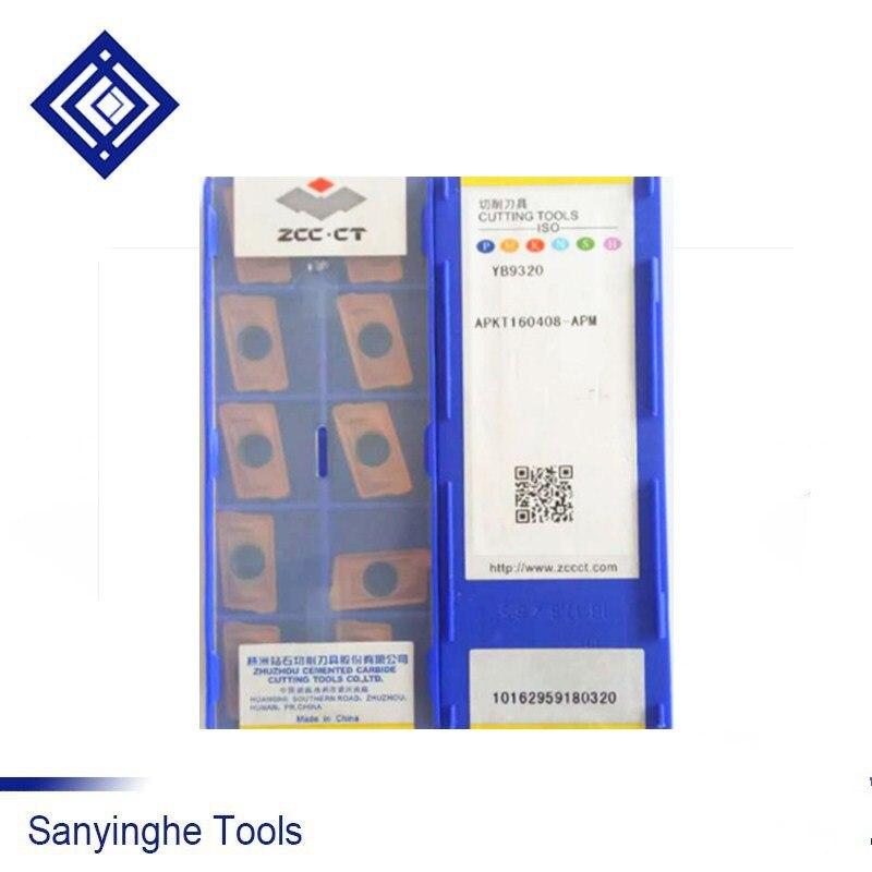 Original ZCCCT YB9320 APKT160408-APM / APKT160412-APM / APKT160416-APM Cnc Carbide Milling Inserts Cutting Tools ZCC.CT