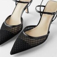 GENSHUO High Heels Pointed Toe Thin Heeled 7