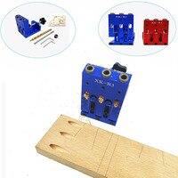 Bolso ajustável buraco localizador gabarito kit sistema para trabalhar madeira marcenaria passo broca 9mm conjunto para carpintaria carpinteiro ferramentas|Conjuntos ferramenta manual| |  -