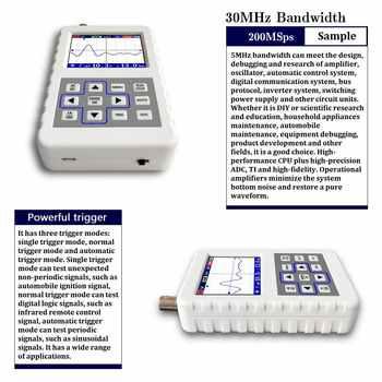 FNIRSI-2031H Digital Oscilloscope Handheld small mini oscilloscope 30MHz bandwidth 200MS/s