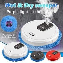 Três em um robô varrendo inteligente 1048 aspirador de pó recarregável seco e molhado mop varrendo aspirador de pó forte sucção