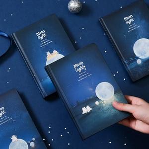 """Image 3 - """"Лунный свет"""" Жесткий Чехол черные бумаги записная книжка Журнал Дневник пустой блокнот канцелярские принадлежности подарок"""