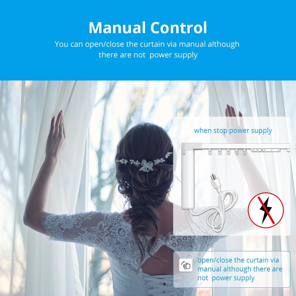 Top SaleZemismart Wifi Curtain Track Motor Echo-Control Tuya Remote-Alexa Customized with RF