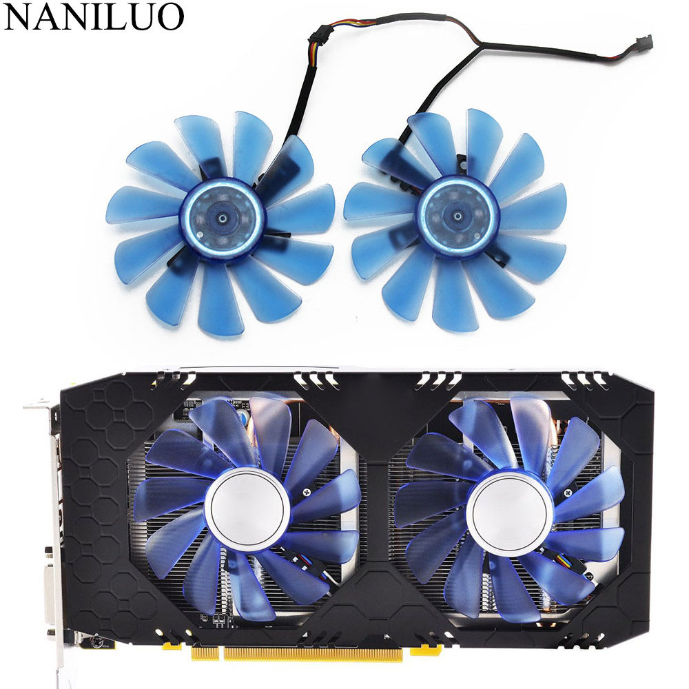 90mm Diameter 40mmX40mm Pitch Blue GPU Cooler FDC10U12S9-C Graphics Card Fans for HIS RX 570 IceQ X//Turbo RX574 RX470 RX 480 Video Cards Cooling