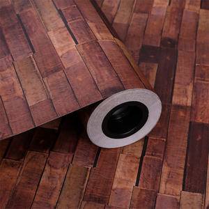 Image 4 - Самоклеящиеся обои в стиле ретро с имитацией кирпича, водонепроницаемая Наклейка на стену для гостиной, кухни, ресторана, настенная 3D Бумага