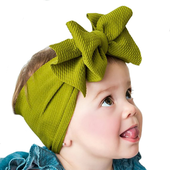 Big Bow Turban Baby Girl Headbands Newborn Headwrap Elastic Toddles Hairband Kids Headband For Hair Accessories