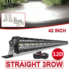 CO LIGHT 12D 780W 42 inch LED Light Bar 3-Rows LED Bar Car Combo Beam for Driving SUV 4X4 ATV 4WD Offroad LED Work Light 12V 24V amber yellow white high power 4x4 car offroad 17 inch 18 inch 252w led light bar work light 12v 24v 24 months warranty