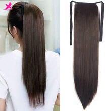 Удлинители волос xnработы конский хвост с шпильками синтетические волосы удлинители волос конский хвост длинные прямые волосы на заколке в...