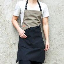 2020 más nuevo delantal de cocina sólido caliente para mujer hombres Chef camarero cafetería tienda delantales de peluquería y d