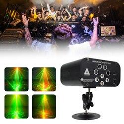 WUZSTAR Disco LED DJ Party Verlichting 128 Patronen Laser Kerst Projector Licht voor Fase Decoratie RGB Kleurrijke Verlichting effect