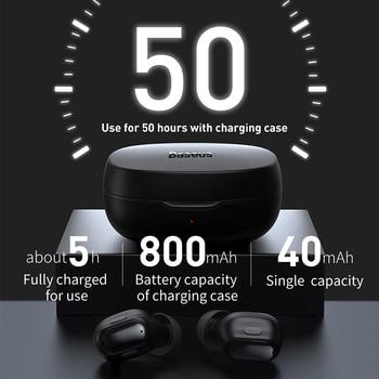 Baseus WM01 Plus Wireless Headphones TWS Bluetooth 5.0 Earphones Stereo Sports Waterproof Headsets with LED Digital Display 2