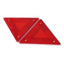 2 pçs triângulo aviso refletor alertas placa de segurança luz traseira reboque carro fogo 1xcf