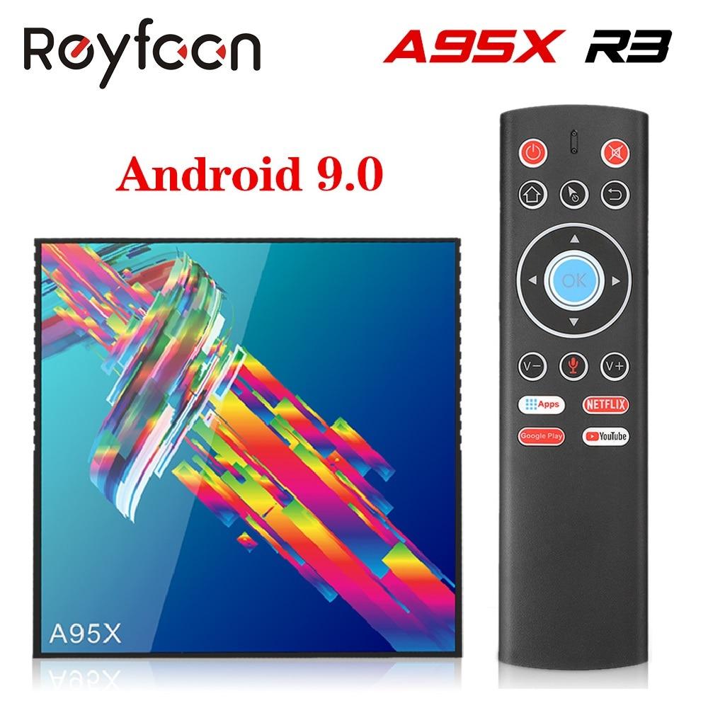 A95X R3 TV Box Android 9,0 4GB 64GB Rockchip RK3318 apoyo 1080p 4K 100M USB3.0 5G Dual Wifi Google Netflix Youtube reproductor de medios UMIDIGI A3 Android 9,0 banda Global 5,5