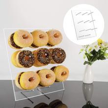 9 sütunlar akrilik Donut tutucu standı vitrin rafı düğün doğum günü partisi dekoru