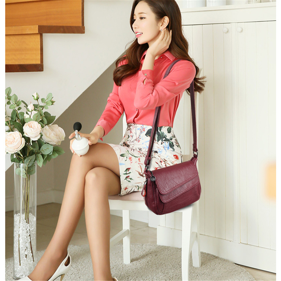 LONOOLISA White Beach Bag Ladies Shoulder Crossbody Bags For Women 2019 Leather Luxury Handbags Women Bags Designer Sac A Main