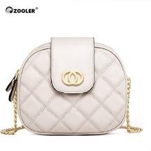 ZOOLER Round small 2019 Hot Genuine Leather Woman Bag Shoulder Luxury Designed Messenger Soft Lady Purses  B251