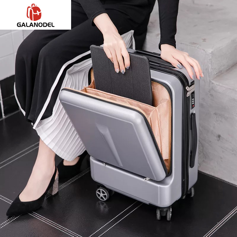 Suitcase-Wheels Laptop-Bag Cabin-Luggage Spinner Trolley Women 20inch with 24''creative title=
