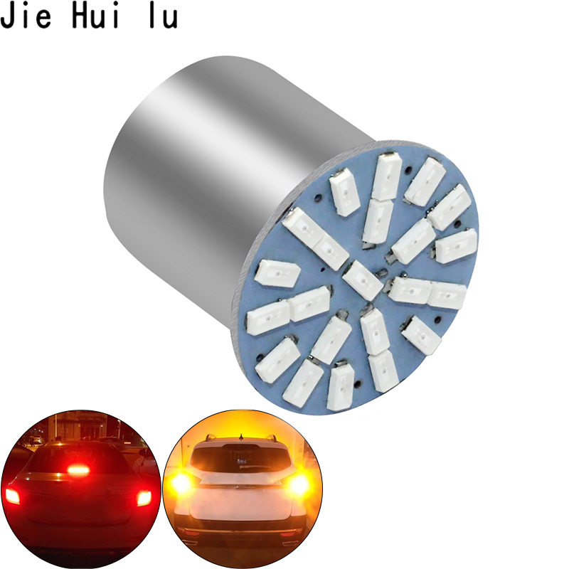 Image 2 - New Outdoor Lights 100 pcs Car Styling Lamp 1157 1156 Ba15s 22 Led 3014 22smd Led Light Inverted Turn Signal Brake light led-in Signal Lamp from Automobiles & Motorcycles