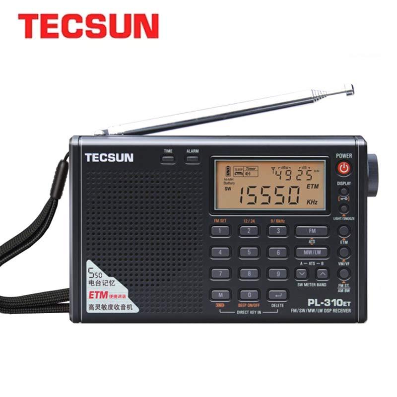 Tecsun PL-310ET Pieno Radio Demodulatore Digitale FM/AM/SW/LW Radio Stereo Portatile Radio Internet Per La Lingua Inglese Istruzioni Per L'uso Russo