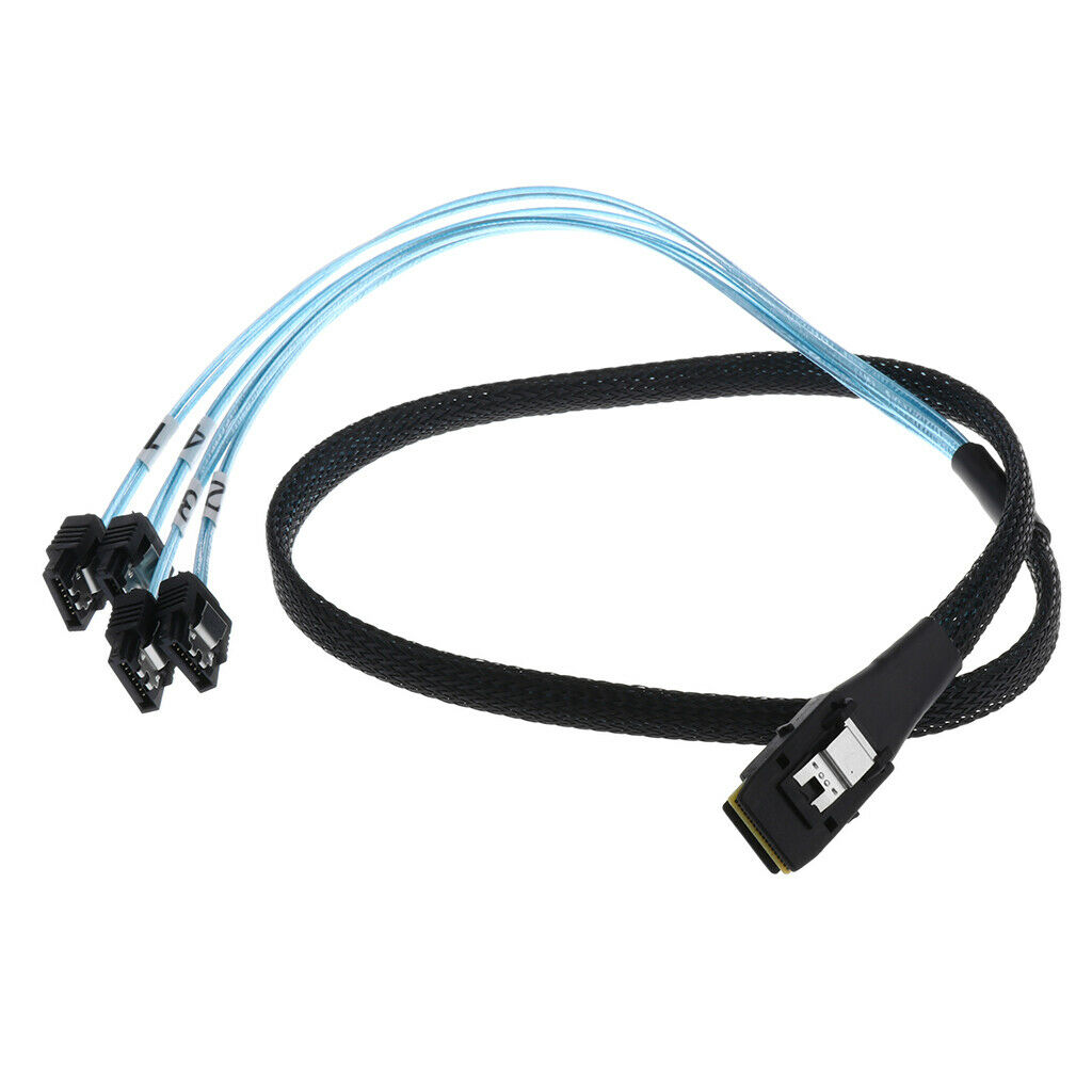 2.5ft 6Gbps Mini SFF-8087 36Pin To 7Pin Sata Hdd Hard Drive Splitter Cable