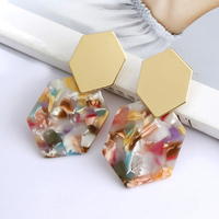 2019 Fashion Acrylic Clip on Earrings Without Piercing Ear Clips for Women