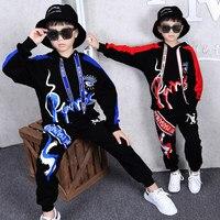 Kids Clothes Boys Set Kids Suit Boys 2019 Autumn Outfit Suits Hip Hop 2Piece Sets Unisex Cotton Red Blue Parkour Boy Clothing