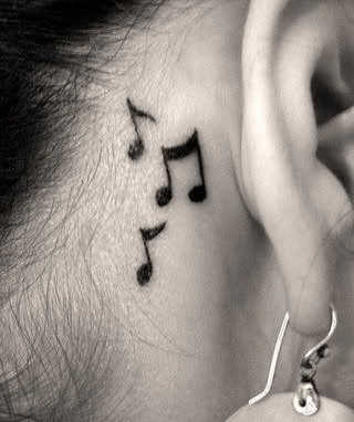 Waterproof Temporary Tattoo sticker on ear finger music note bird stars line streak henna tatto flash tatoo fake for women 24