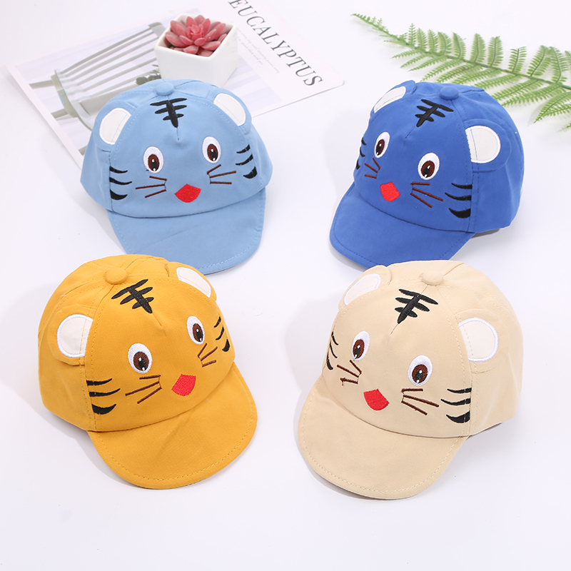 Hfb1bb59b1ef0414dba0648f95b4255f9P - Baby Hat Cute Bear Embroidered Kids Girl Boy Caps Cotton Adjustable Newborn Baseball Cap Infant Toddler Beach Outdoor Sun Hat