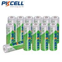 12 batterie PKCELL AA batterie ricaricabili NiMH 1.2V 2200mAh Bateria durevole 2A a scarica automatica bassa per giocattolo e fotocamera