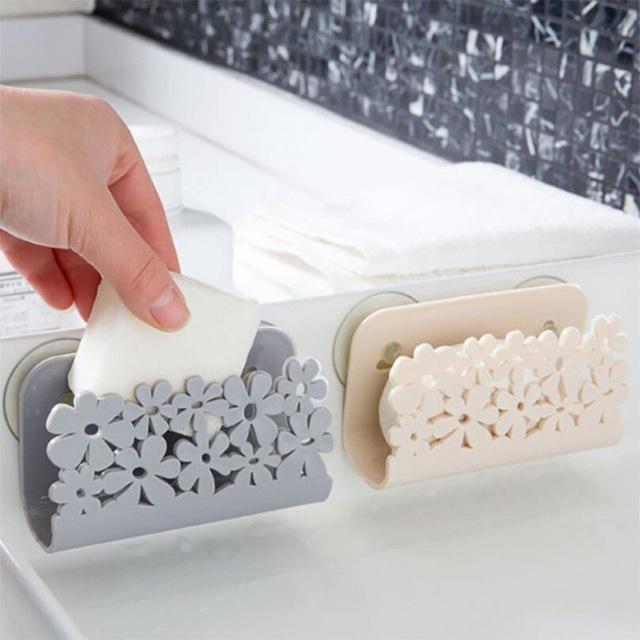 New Kitchen Bathroom Drying Rack Toilet Sink Suction Sponges Holder Rack Suction Cup Dish Cloths Holder Scrubbers Soap Storage 1