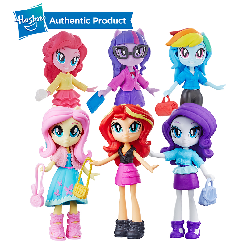 Hasbro My Little Pony Equestria Girls Fashion Squad Applejack Twilight 3-inch Mini Doll 4 Girls Fashion Squad Doll To Mix Styles