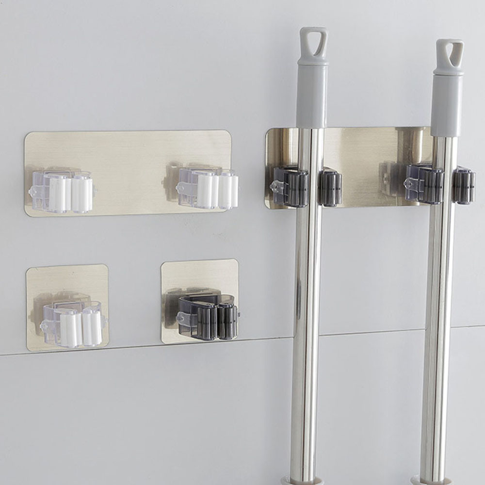 Wall Mounted Mop Bathroom Organizer Holder Brush Broom Organizer Hanger Storage Rack For Home Bathroom Kitchen Tool