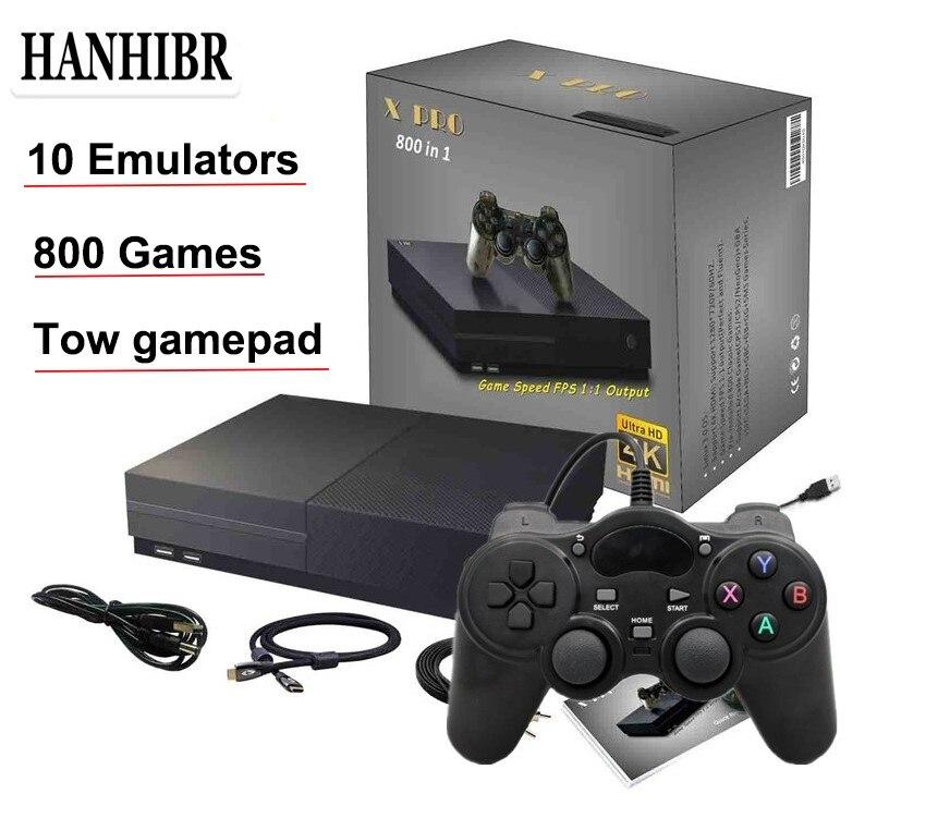 Console de jeu vidéo PS1 64Bit 4K sortie HD HDMI rétro 800 classique famille rétro jeux TV 4G XPRO joystick pour cadeau xbox ones