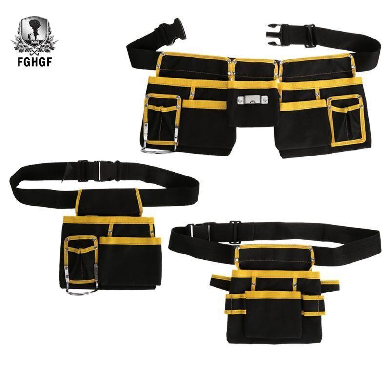 FGHGF high quality Multi-functional Oxford Cloth Electrician Tools Bag Waist Pouch Belt Storage Holder Organizer