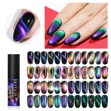 LILYCUTE 5ml Auroras Luminous Cat Eye UV Gel Polish Glow in The Dark 3D Magnetic Glitter Varnish Soak Off LED Nail Art