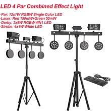 2Pcs/Lot 126W 4IN1 Effect LED Par kit With Laser Strobe Derby Multi-function Light DJ Wash Light Stage KTV Disco Party DMX512 цена 2017