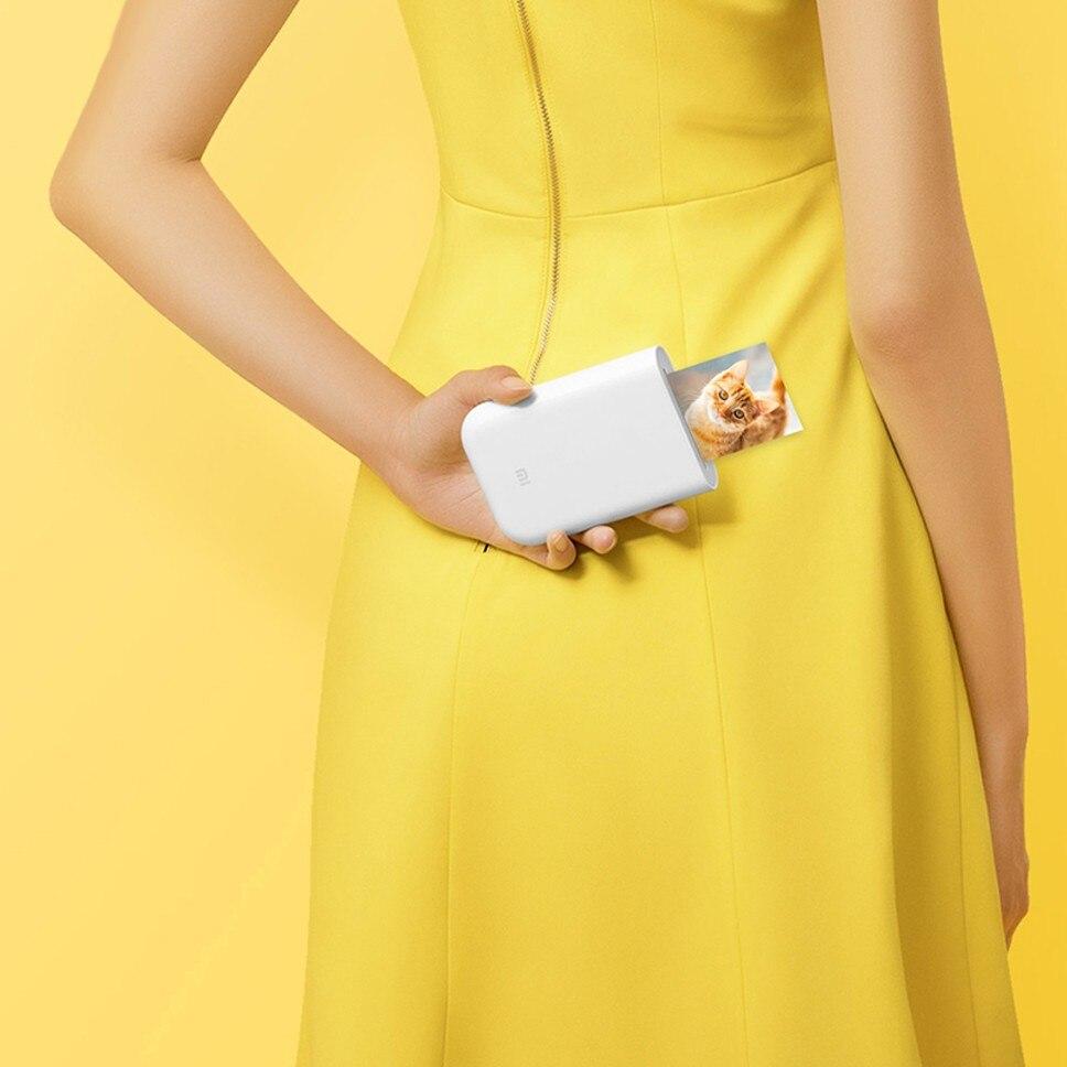 Xiaomi Bluetooth imprimante ZINK impression 300dpi AR Photo Portable Mini imprimante de poche bricolage Photo papier imprimantes pour iphone Android - 3