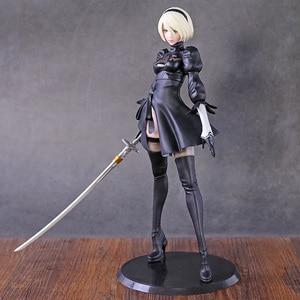 Image 2 - NieR: Automi 2B YoRHa No. 2 Neal NieR Action Figure Statua Modello Giocattolo Anime Figura Giocattoli di Raccolta