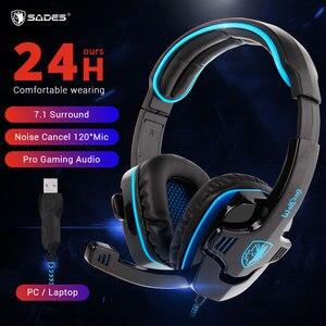 SADES WOLFANG Headset Gamer 7.