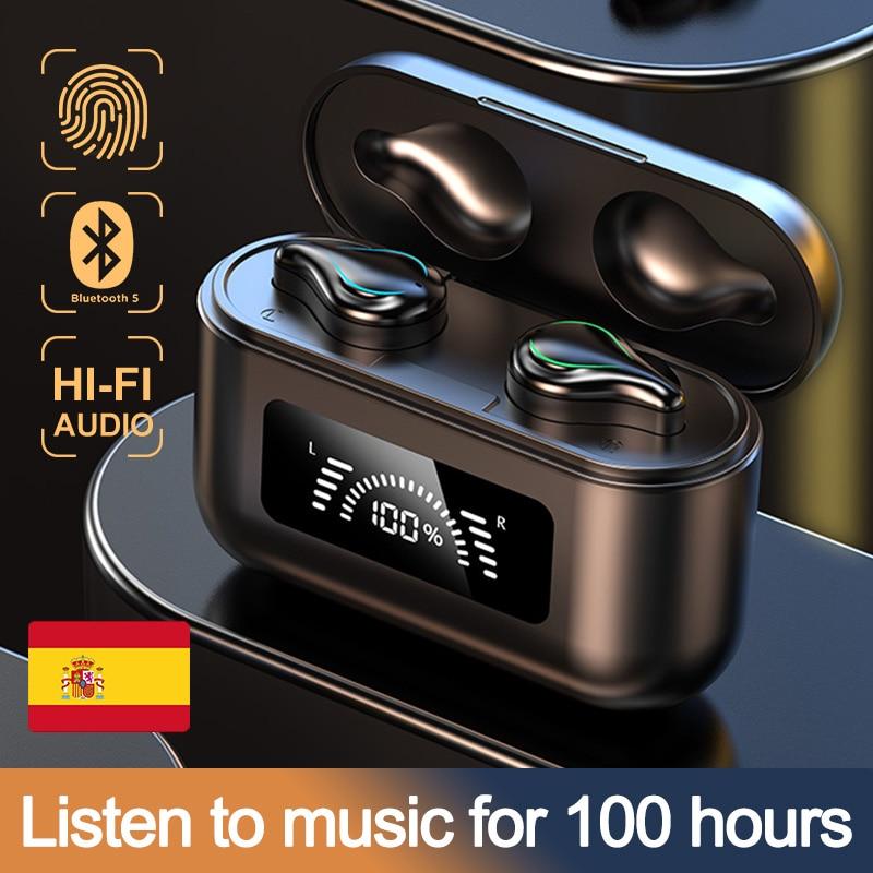 TWS Bluetooth Earphones 2000mAh Charging Box 5.1 Wireless Headphone 9D Stereo Sports Waterproof Earbuds Headsets With Microphone