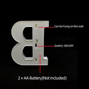 Image 3 - Luminous 26 ตัวอักษรภาษาอังกฤษตัวอักษรไฟLed Creative Ledโคมไฟกลางคืน 16 ซม.โรแมนติกห้องจัดงานแต่งงานตกแต่งตัวอักษร