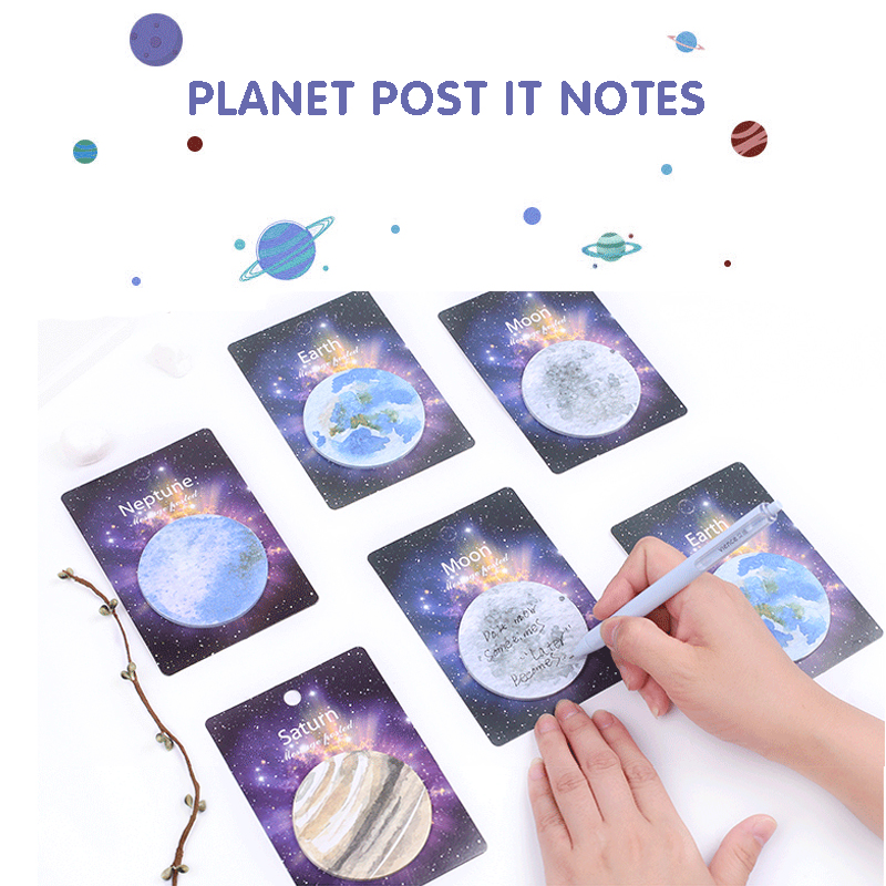 Planet Post It Notes 1Bag/30 Sheets Cartoon Lovely Note Book Message Book Note Paper Memo. Office And Learning Supplies