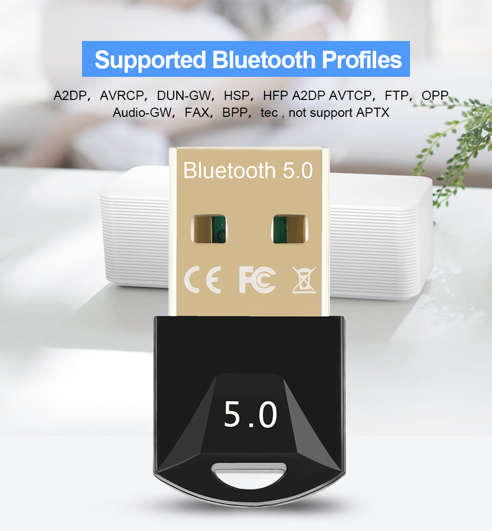 USB Bluetooth 5.0 Bluetooth Adapter Receiver 5.0 Bluetooth Dongle 5.0 4.0 Adapter for PC Laptop 5.0 BT Transmitter 5
