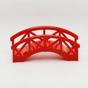 Image 2 - Duplo DIY Bridge Big Size MOC Single Sale Building Blocks Toys for Children Compatible Locking Duplo Educational Baby Gifts