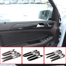 Auto Binnendeur Decoratie Panel Cover Trim Abs Zwart Voor Mercedes Benz Gle Gls Ml Gl Class320 400 2012-2019 Interieur Accessoires