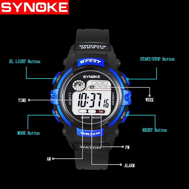 Sport étudiant enfants montre garçons filles montres enfants horloge enfant montre-bracelet numérique LED électronique montre-bracelet pour fille garçon cadeau
